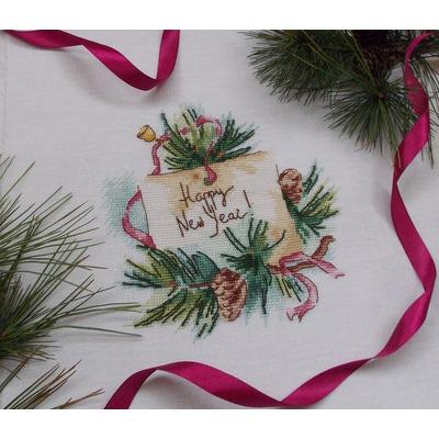 """Авторская схема для вышивки крестом """"Счастливого Нового года!"""" (фото, вид 1)"""