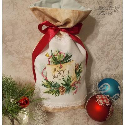 """Авторская схема для вышивки крестом """"Счастливого Нового года!"""" (фото, вид 2)"""