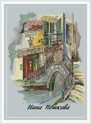 """Авторская схема для вышивки крестом """"Мосты Венеции"""" (фото, вид 1)"""