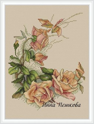 """Набор для вышивания крестом """"Винтажные розы"""" (фото, вид 1)"""