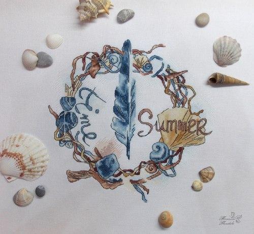 """Набор для вышивания крестом """"Морской венок"""" (фото, вид 1)"""