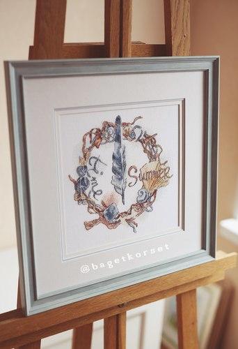 """Авторская схема для вышивки крестом """"Морской венок"""" (фото, вид 2)"""