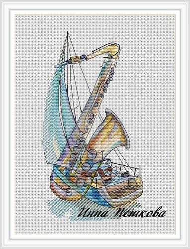 """Набор для вышивки крестом """"Музыка ветра"""" (фото, вид 1)"""