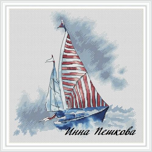 """Набор для вышивания крестом """"Яхта"""" (фото)"""