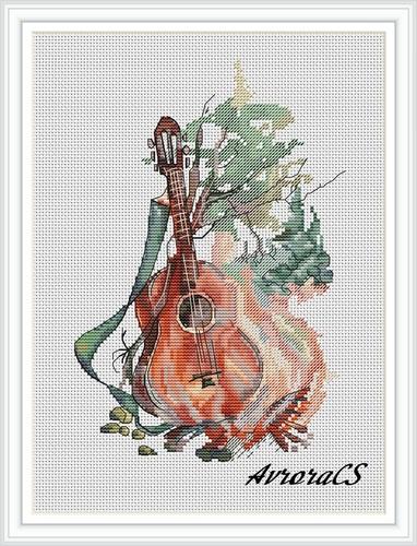 """Авторская схема для вышивки крестом """"Музыка огня"""" (фото)"""