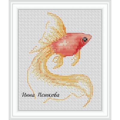 Вышивка крестом бесплатные схемы рыбок