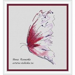 """Авторская схема для вышивки крестом """"Бабочка"""""""