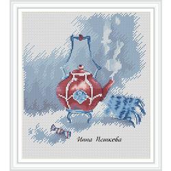 """Авторская схема для вышивки крестом """"Теплая зима"""""""