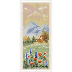 """Авторская схема для вышивки крестом """"Домик в горах"""""""