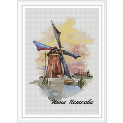 """Авторская схема для вышивки крестом """"Ветер перемен"""""""