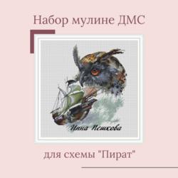 """Набор мулине ДМС для схемы """"Пират"""""""