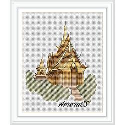 """Авторская схема для вышивки крестом """"Тайланд.Бангкок"""""""