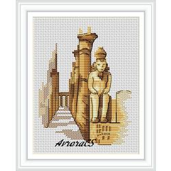 """Авторская схема для вышивки крестом """"Египет. Луксор"""""""