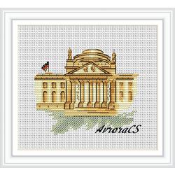 """Авторская схема для вышивки крестом """"Германия.Берлин"""""""