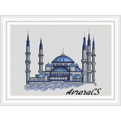"""Авторская схема для вышивки крестом """"Турция.Стамбул"""""""